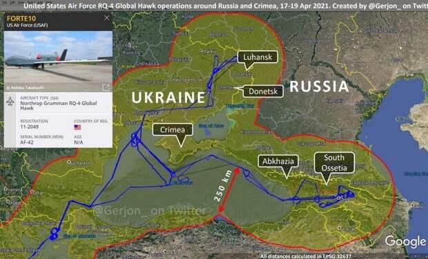 Показаны регионы России, которые могут «рассмотреть» беспилотники США