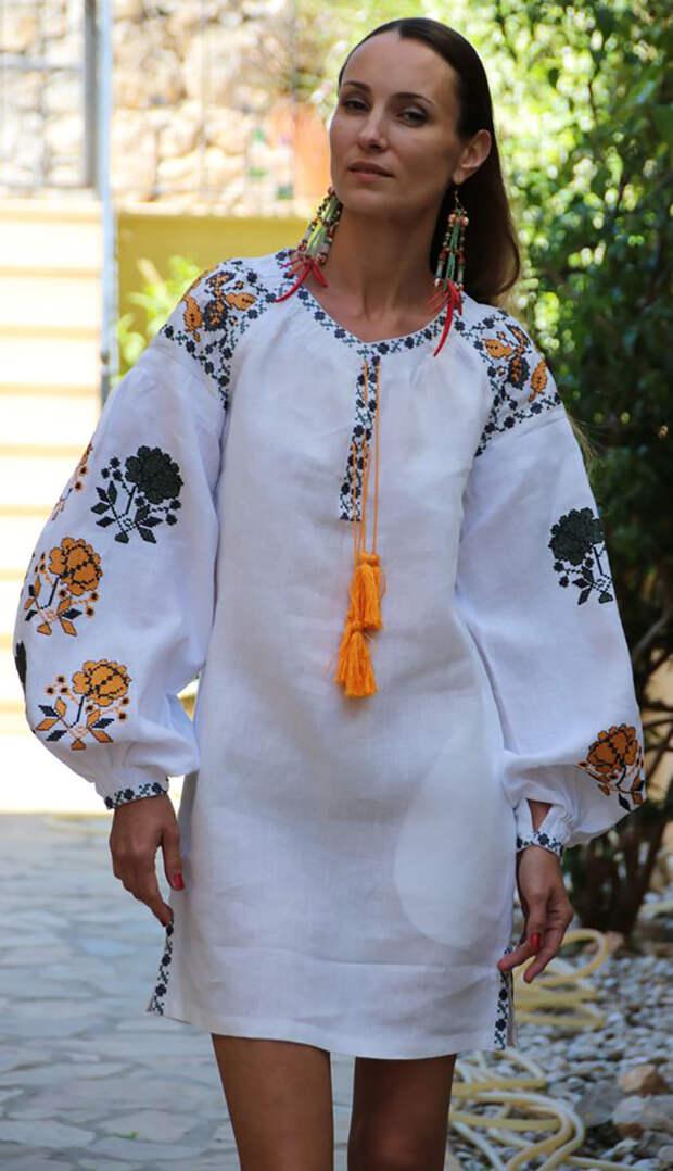 платья с вышивкой больших размеров