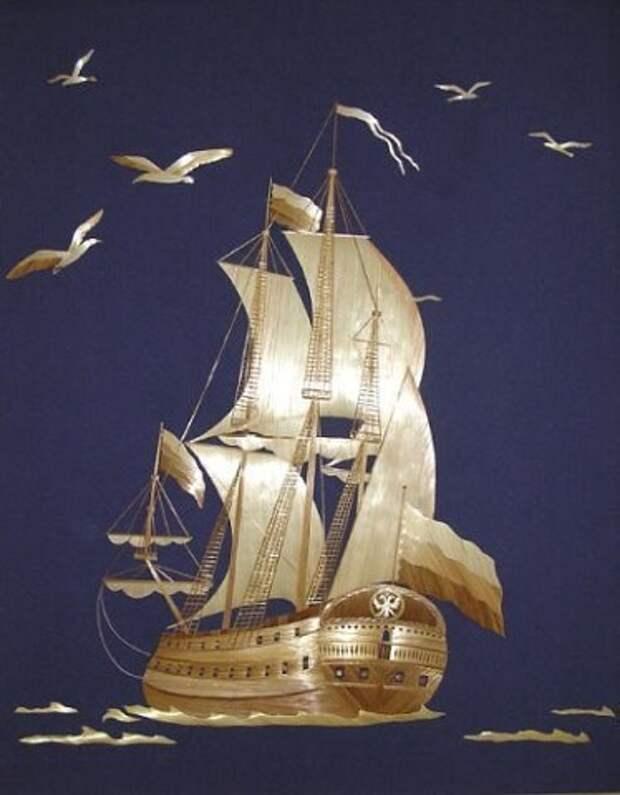 Картины из соломки от разных авторов