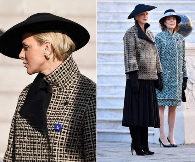 Свободное пальто уравновешивает верх и низ фигуры.