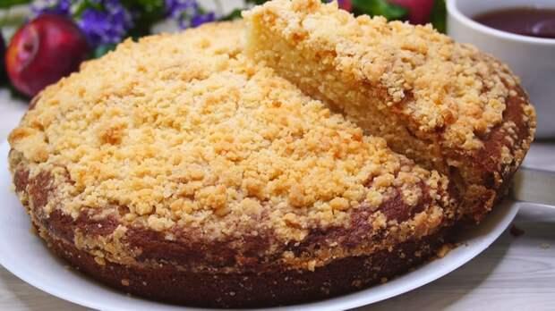 Пирог на кефире с крошкой Пирог, Рецепт, Видео рецепт, Кулинария, Видео, Еда