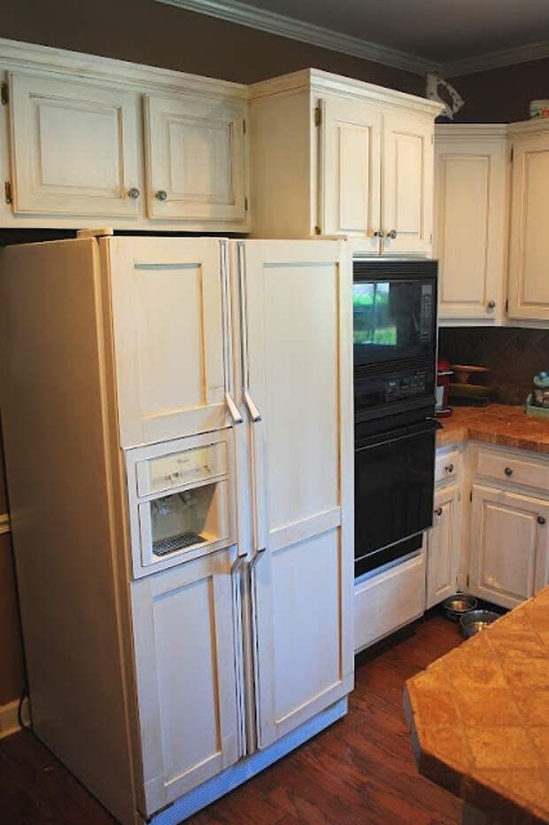 Как вписать холодильник в кухню - классику? (DIY)