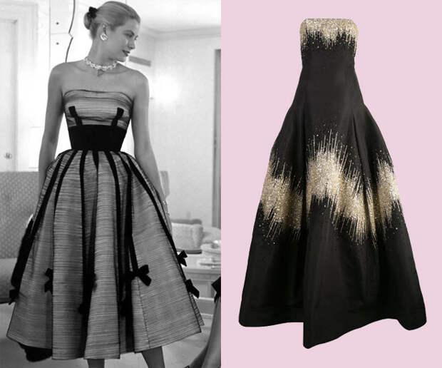 Фото Грейс Келли в коктейльном платье с пышной юбкой