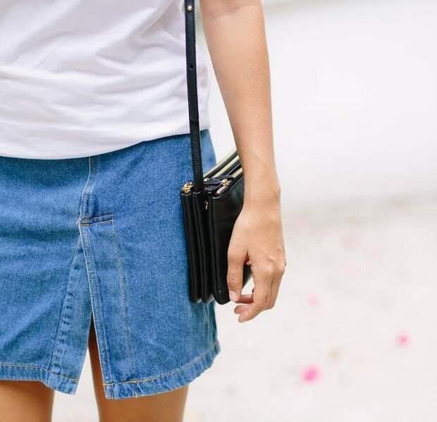 Простейшая переделка джинсовой юбки или платья DIY