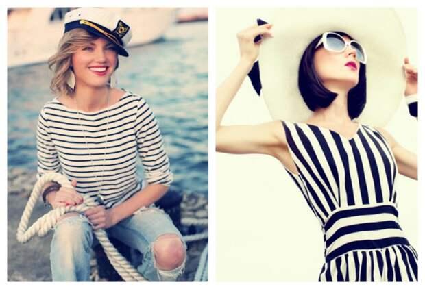 Морской стиль в одежде 2021