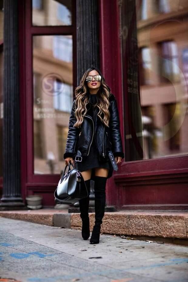 Как и с чем носить модную дубленку: 17 беспроигрышных вариантов на каждый день