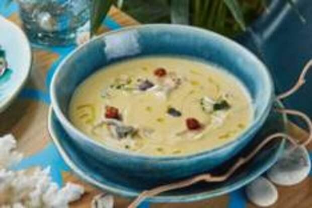 С мира по ложке - Крем-суп с командорским кальмаром