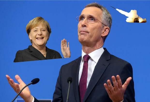 """К вашему вниманию """"спасители"""" Литвы: Меркель и генсек НАТО"""