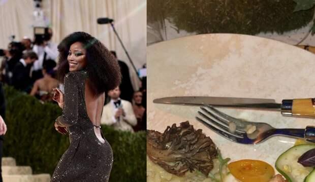 Уставший салат и ложка кукурузы: ужин на Met Gala 2021 за 35 тыс долларов