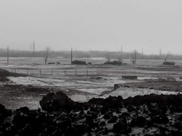 Подбитая техника 1-й Славянской бригады фото с позиций ВСУ