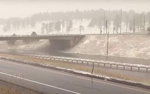 В США неожиданно выпал снег - Cursorinfo: главные новости Израиля