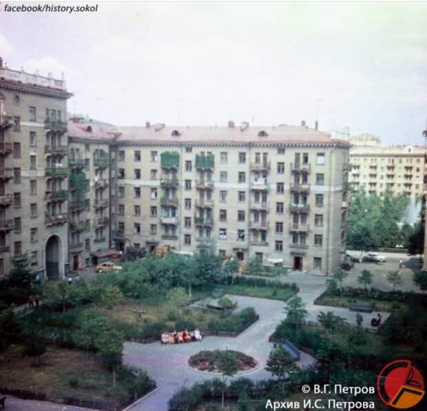 Ретро-фото: двор на Новопесчаной в 60-х