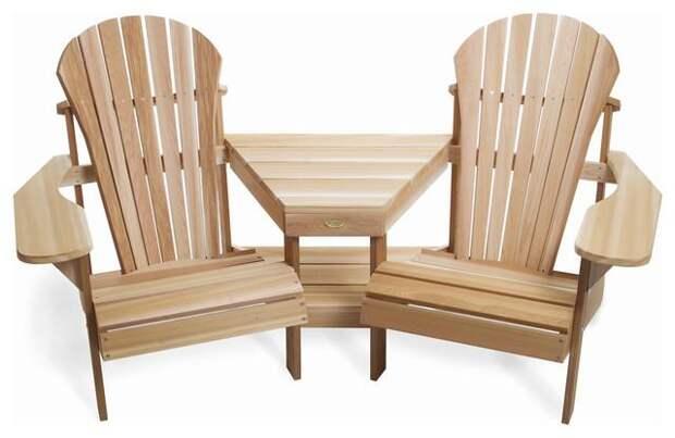 Как сделать дизайнерское деревянное кресло для дачи своими руками