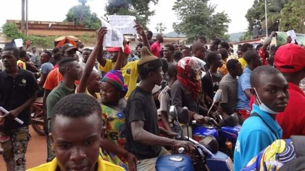 В столице ЦАР прошел многотысячный митинг против присутствия миротворцев ООН