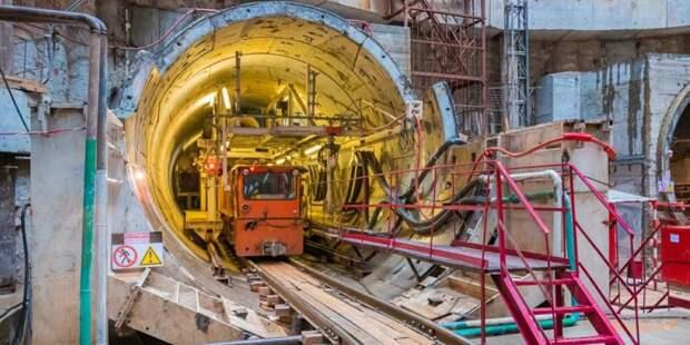 Собянин рассказал о продлении «салатовой» ветки метро за МКАД/ Фото mos.ru