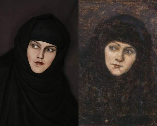 "20. Василий Суриков ""Голова монахини"" (1884)"