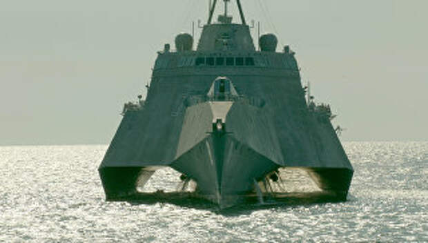 Корабль прибрежной зоны ВМС США LCS-8 Montgomery (Монтгомери). Архивное фото