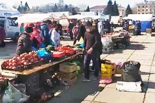 коронавирус торговля на центральной площади
