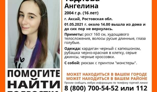 Пропавшую школьницу разыскивают вРостовской области
