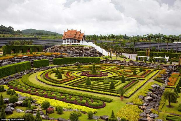 Тропический парк Нонг Нуч в Таиланде
