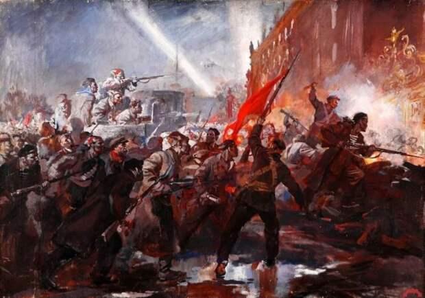 Борьба левых венчалась социалистической революцией в России. /Фото: yandex.com.