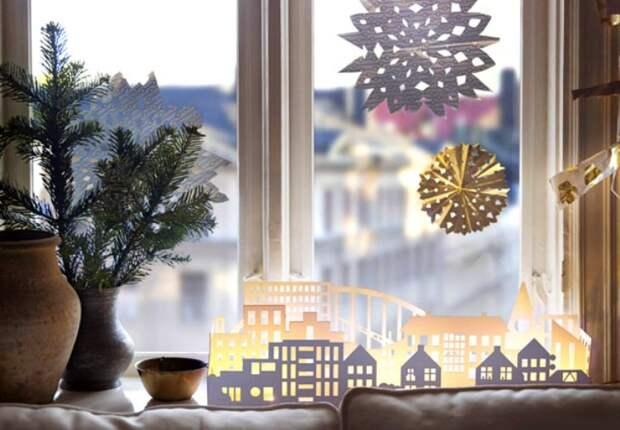 12 лучших идей как украсить окна на Новый 2019 год