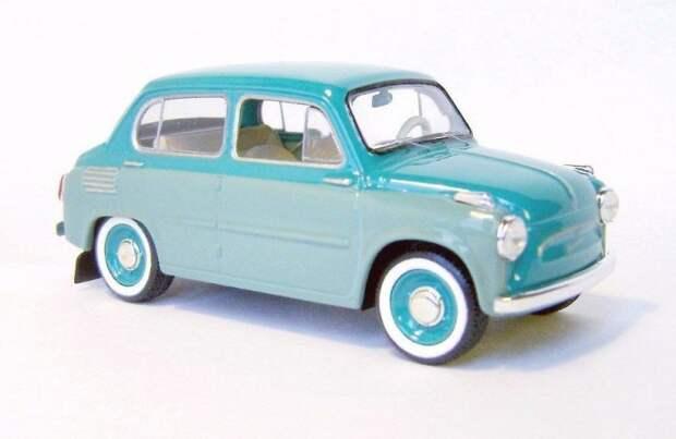 ЗАЗ-965 четырехдверный авто, автодизайн, газ, запорожец, моделизм, модель, москвич, советские автомобили