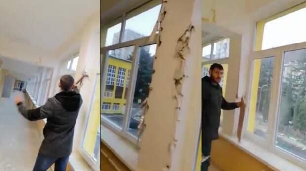 Рабочие устроили погром в крымской школе после невыплат за капремонт