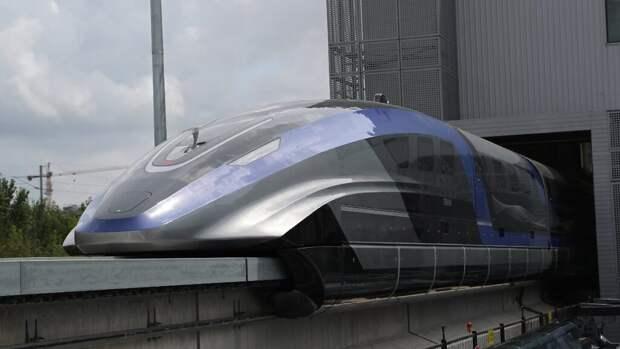 В Китае создали самый быстрый поезд, разгоняющийся до 600 км/ч