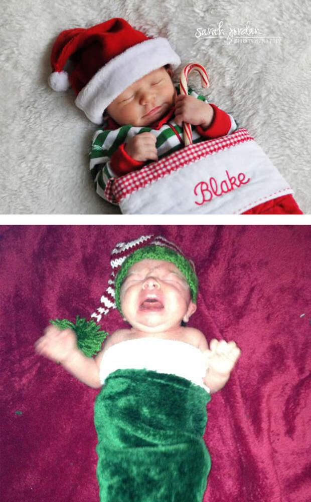Рождественский подарочек: ожидание и... дети, фото, юмор