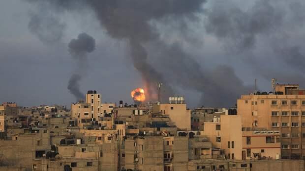 ВВС Израиля нанесли удар по штабу службы безопасности движения ХАМАС в секторе Газа