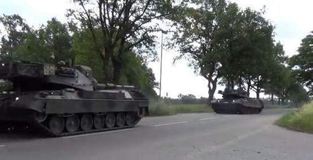 Немецкие танки под Тернополем