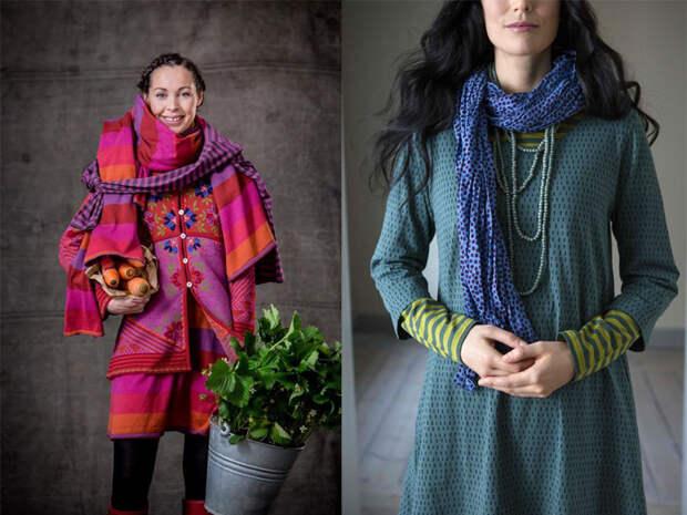 Фотографии из лукбука марки Gudrun Sjoden.