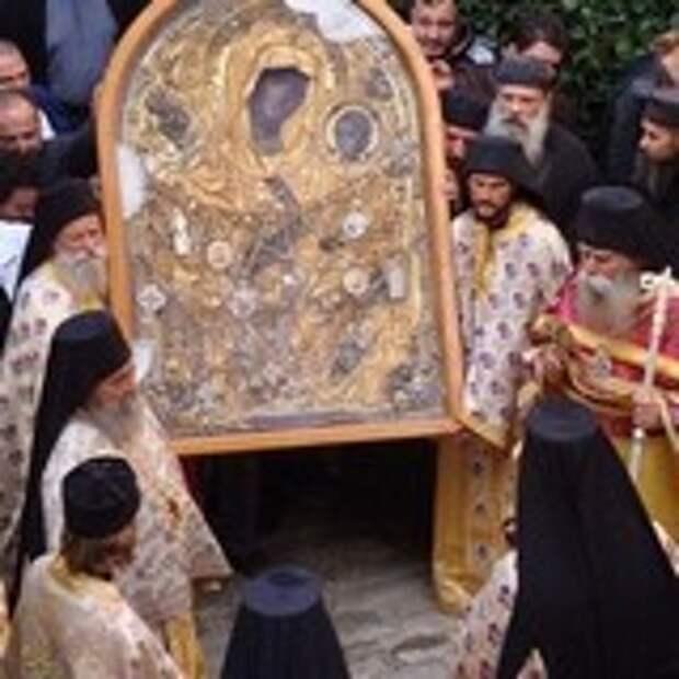 Чудо в Афонском монастыре. Немой от рождения заговорил перед иконой Скоропослушницы