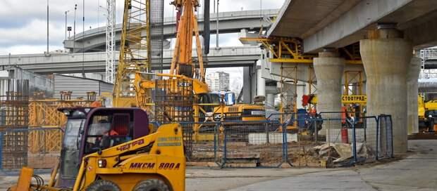 Бетонирование опор моста через Яузу завершается на участке СВХ