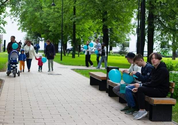 """Партия """"Новые люди"""" в Ижевске раскрасила праздник в бирюзовый цвет"""