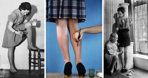 Зачем раньше женщины красили ноги и рисовали на них линии карандашом