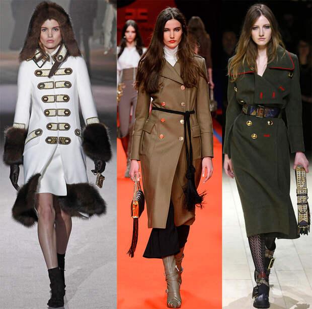 Стиль милитари в женской моде
