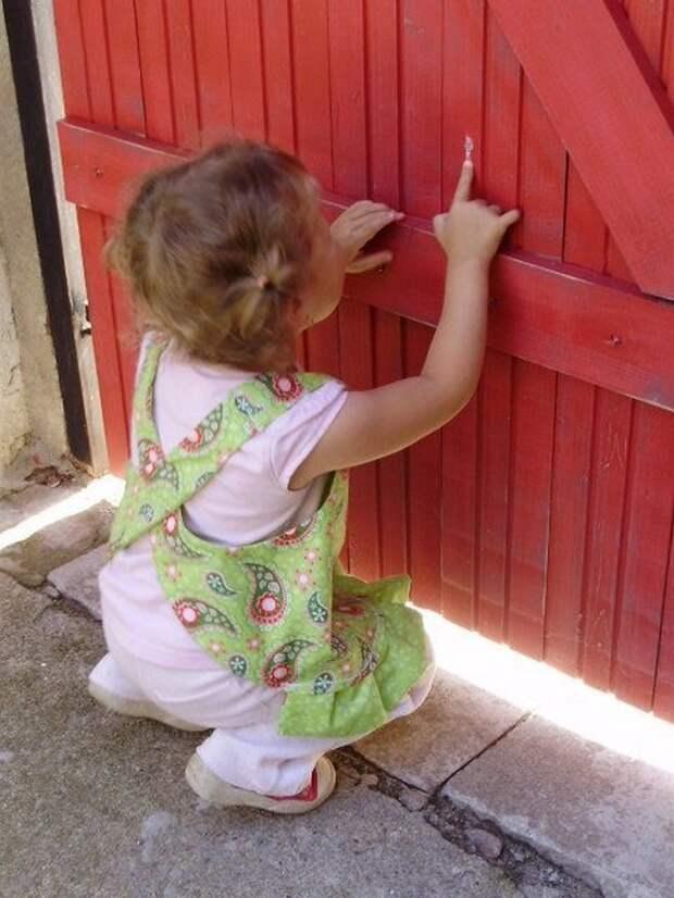 картинка фартук-сарафан для девочки своими руками