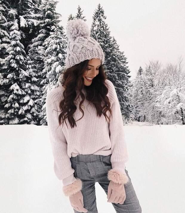 25 модных образов в светлых тонах для зимы 2021, которые покорят ваши сердца