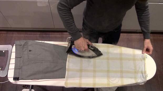 Как убрать пятна лоска на брюках