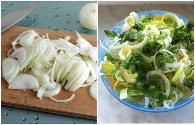 Добавляйте лук в салат сразу после нарезки, чтобы он не потерял вкус