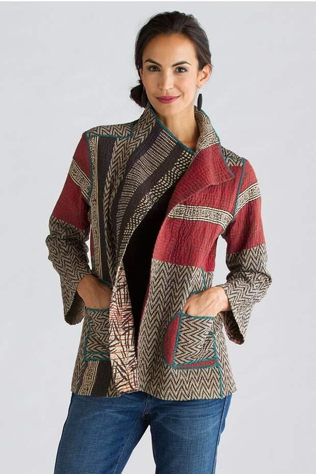 Колоритная вышивка в технике кантха