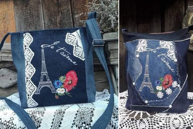 Ольга Черноусова шьёт бохо сумки из джинсы, кружев, лоскутов и прочего с добавлением вышивки. Посмотрите