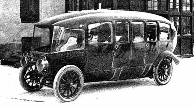 Французская многоместная 75-сильная машина Charron вагонного типа. 1913 год авто, автомобили, атодизайн, дизайн, интересный автомобили, олдтаймер, ретро авто, фургон