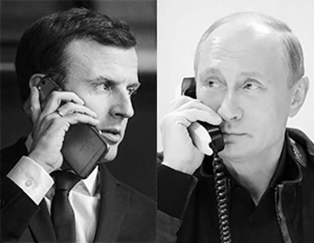 Французская пресса вбросила искаженную информацию о разговоре Макрона и Путина
