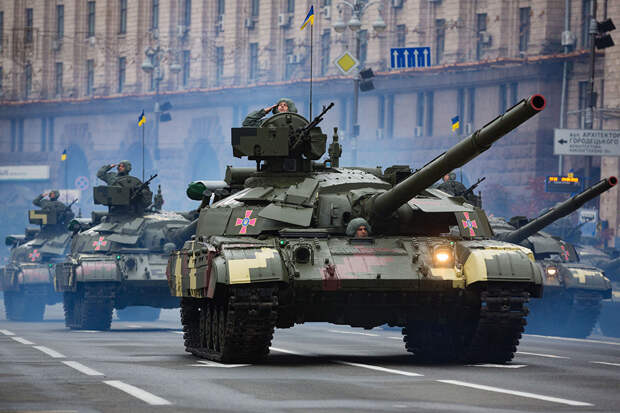 """На Украине получен заказ на первую партию Т-64БМ2 """"Краб"""""""