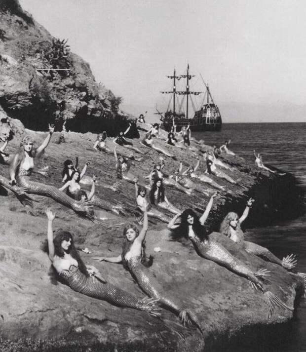 Русалки на съемках «Питера Пэна», 1924 год