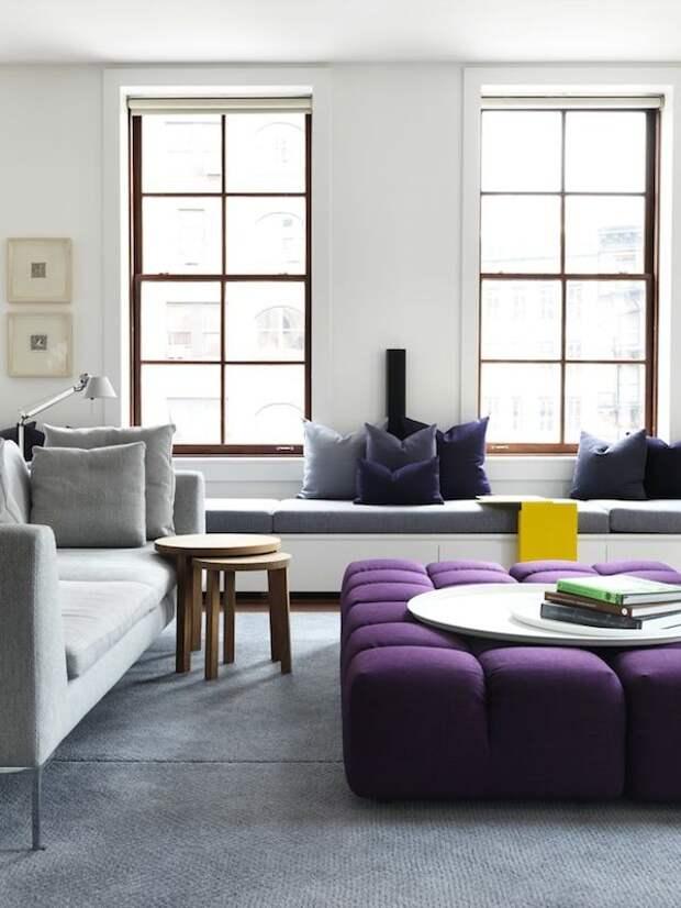 Вот лучшее применение фиолетового цвета в интерьере