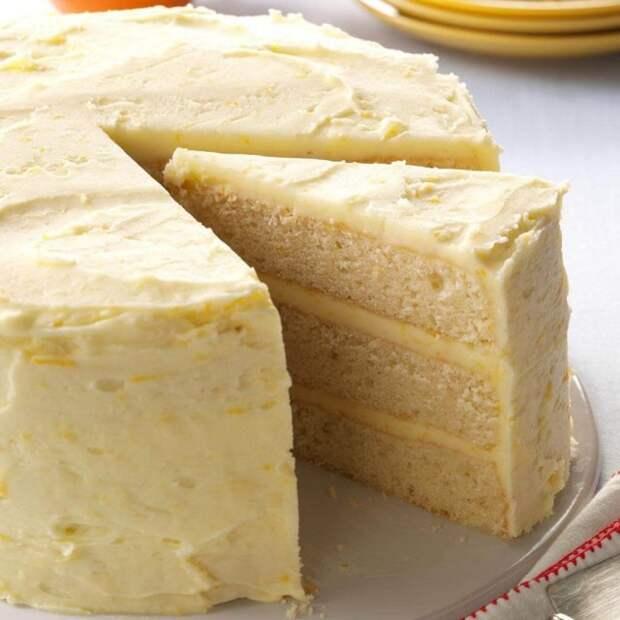 апельсиново-лимонный торт